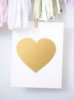 Gold heart.