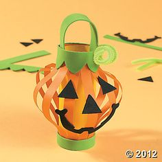 Paper Jack-O'-Lantern Craft for Halloween