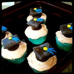 little brother's 8th grade graduation cupcakes