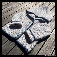 Baby hættetrøje med knapper_12