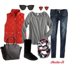 """""""Casual Winter Outfit-Over 40 Fashion"""" by sheila-r on Polyvore"""