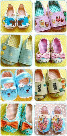 DIY baby shoes.