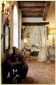 spanish design, tile design, home design plans, terracotta pots, little space, spanish style, wood beams, rustic elegance, design bathroom