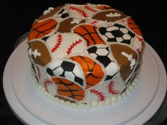#KatieSheaDesign ♡❤ ❥ Sports #cake.