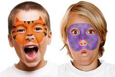 pintacaritas 2 Pintacaritas Caseros ¡Qué resultado más chulo! idea, face paintings, facepaint, art faces, paints, stencil, face art, face painting tiger, kid