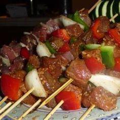 kabobs, food, sticks, awesom spici, haitian voodoo, spici beef, voodoo stick, recip, beef kabob