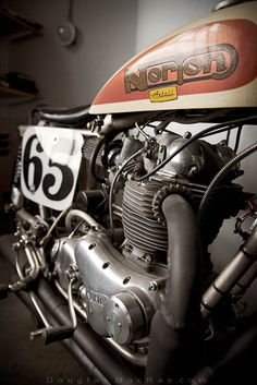 Mechanical poetry: a vintage Norton motorcycle.