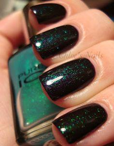 Amazing nails: dazzling color combo (L'Oreal Illuminescence + Pure Ice Heart Breaker)