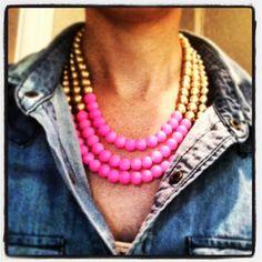 Neon & gold Erin McDermott necklace