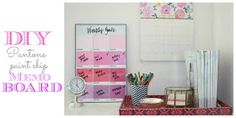 Burlap and Lace: $4 DIY Pantone Paint Chip Memo Board