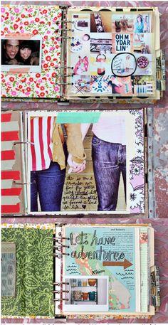 Pretty art journals