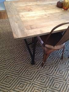 west elm jute diamond rug $250