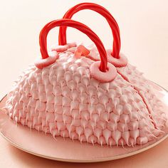 Make this adorable Furry Purse Cake for you little fashionista. More creative birthday cakes for kids: http://www.bhg.com/recipes/desserts/cakes/birthday-cakes-for-kids-recipes/?socsrc=bhgpin082313pursecake=5