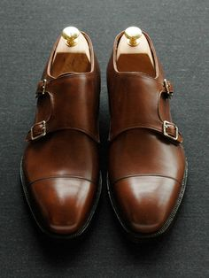 Sid Mashburn Double Buckle Monk Strap Dress Shoes