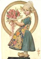 "J. C. Leyendecker (1874-1951) - Easter Dutch Girl, cover of ""The Saturday Evening Post"" - April 3, 1926"
