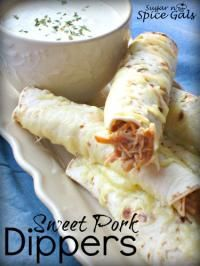 Sweet Pork Dippers on MyRecipeMagic.com. Absolutely delicious! #sweet #pork #dippers