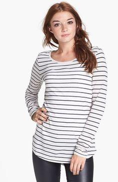 BP. Stripe Long Sleeve Tee (Juniors)   Nordstrom