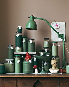 Neat Advent Calendar display... Paint dipped jars