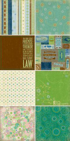 Girl Scout Scrapbook Paper