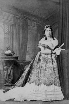 Frances Spencer-Churchill née Vane (1822-1899), Duchess of Marlborough. Married to John 7th Duke