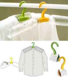 Rethink Hanger Is A Clever Travel Accessory. reuse empty water bottles.