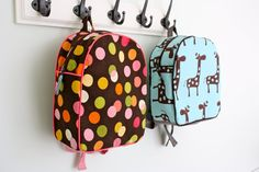 Homemade Backpacks-ali might like this for the first day of preschool!