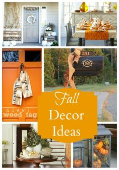 some very cute and do-able Fall Decorating Ideas
