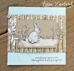 Learn to make these adorable snow bunny cards for your friends!
