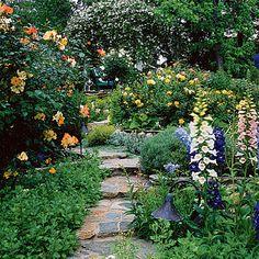 Gorgeous cottage garden