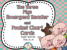 Helping your students see themselves as readers is an important step in the reading process. This Three Little Pigs high frequency word reader will enable them to do just that. The high frequency words repeated in this emergent reader are the, is and in.