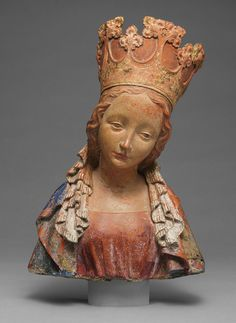 Bust of the Virgin - Bohemia - Terracotta with polychromy - ca. 1390–95