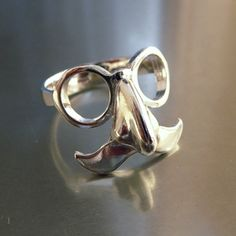 face ring, stuff, style, accessori, funny faces, funni face, jewelri, mustach ring, thing