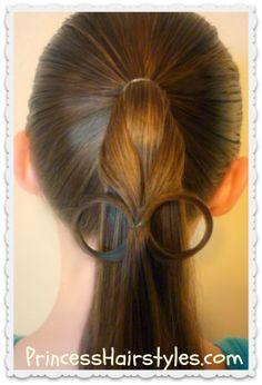 """""""eyeglasses"""" ponytail tutorial"""