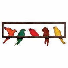 decor showcas, wall art, wall decor, metals, perch bird