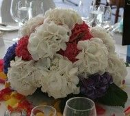 flowers for the bride and groom's table