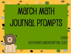 March Journal Prompts Freebie
