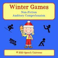 Winter Games: Non-Fiction Auditory Comprehension cards.  Fun way to learn about the Winter Olympics!