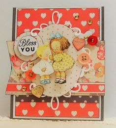 Adorable Feel Better card using Crafty Secrets Feel Better Vintage Cardstock Stickers by Linsey for May Linky Party