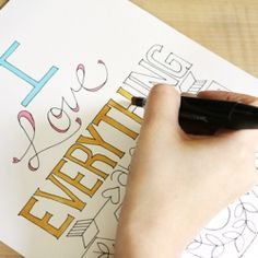 """I Love Everything About You"" Free printables that you can color in however you desire!"