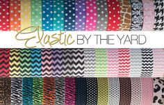 Choose 10 yards of Fold Over Elastic Prints by ElasticByTheYard, $8.50