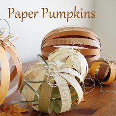 Paper Pumpkins #howto #tutorial