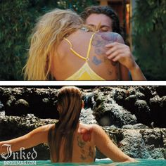Best Tattoos In Movies-Pt3 : Inked Magazine - Blake Lively in Savages #tattoo #tattoos #movies #inkedmag #celebrities #celebritieswithtattoos #actor #actress