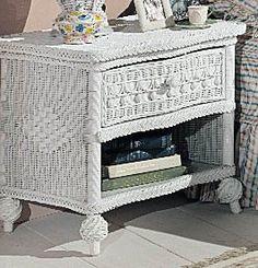 Victorian Wicker Nightstand in White: One Drawer by Wicker Paradise, http://www.amazon.com/dp/B006XXIP3C/ref=cm_sw_r_pi_dp_afLSrb1ZVQ0EC