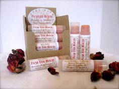 Massage Haven Brand Rose Bud Mouth Lip Balm printed on Standard White Matte (WX) label material.