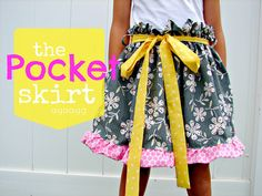 paper bag skirt with belt and pockets tutorial