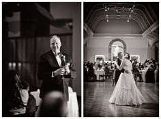 """Father of Bride looks on lovingly during a toast, and the couple could not be more in love during their first dance!! -- Kari and Ryan say """"I do!"""" » Leah Moss Photography Blog"""