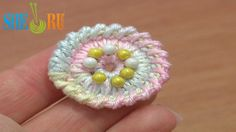 Crochet Round Button Tutorial 2 Long Spike Single Stitches Long Reverse ...