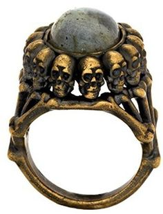 ☆ House of Harlow 1960 Jewelry Oval Skull Ring :¦: ShopStyle ☆