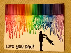 Melted Crayon Art - Father & Daughter