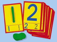 Numbers Dough Building Cards